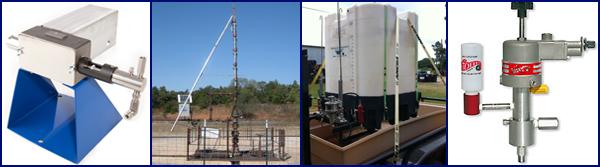Solar Pumps, Soapstick launchers, methanol trailers, Pneumatic pumps.